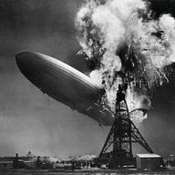 Flaming Blimp Crash